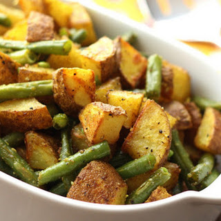 Turmeric Roasted Green Beans and Potatoes