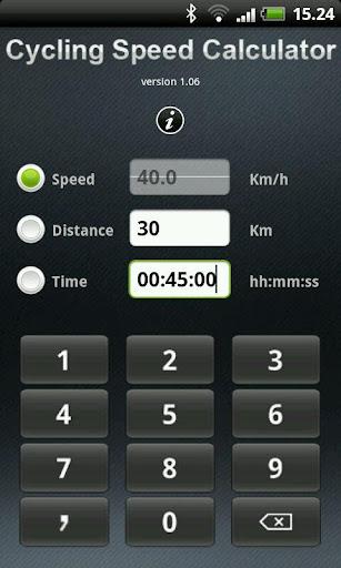 Cycling Speed Calculator