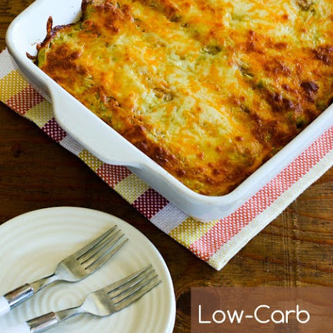 Low-Carb Green Chile Chicken Enchilada Casserole