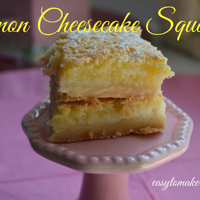 Lemon Cheesecake Square