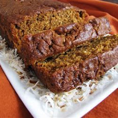 Pumpkin Coconut and Walnut Bread