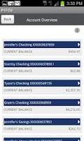 Screenshot of P1FCU Mobile Banking