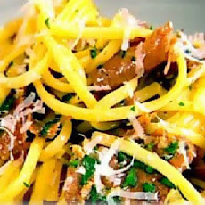 Tasty Pasta Carbonara With Herbs And Spices