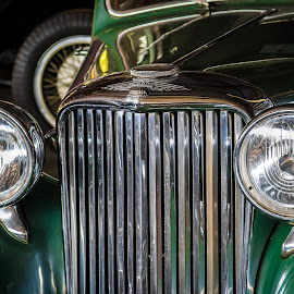 Jaguar by Arti Fakts - Transportation Automobiles ( car, jaguar, old, calender, green, automobile, chrome, vehicle, oldie, artifakts, light, radiator )