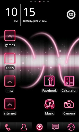 Neon Pink ADW Theme
