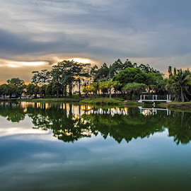 Park of Mirror by Pierre Chia - City,  Street & Park  City Parks ( mirror, reflection, johor, park, district, photo, photography )