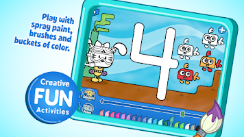 Screenshot of Wubbzy's 123 Learn & Play