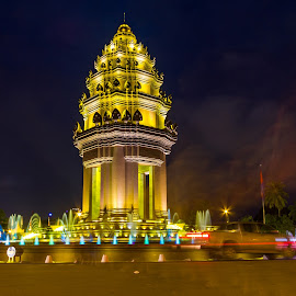 Cambodia Independent monument. by Sayon Svet - Buildings & Architecture Statues & Monuments ( independent, cambodia )