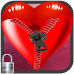 Romantic Heart Zip Screen lock 1.0 Apk