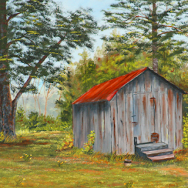 Granpaw's Smokehouse by Donald Lancaster - Painting All Painting