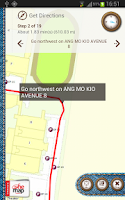 Screenshot of Pocket OneMap
