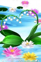 Screenshot of Water Lily Bell LiveWallpaper