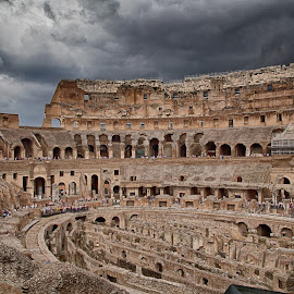 Colusseum with a storm overhead by Dale Mellor - Buildings & Architecture Public & Historical (  )