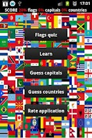 Screenshot of World capitals logo quiz