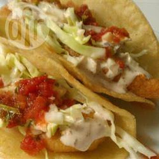 Mexican Fish Tacos With Yoghurt Herb Sauce