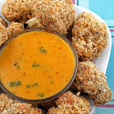 Cauliflower Bites with Cheddar Mustard Dipping Sauce