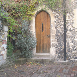 Door in Canterbury Cathedral by Jennifer Bryant - Novices Only Objects & Still Life