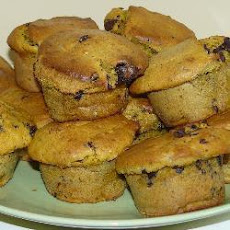 Moist Pumpkin and Chocolate Chip Muffins