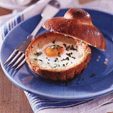 Baked Eggs in Brioches