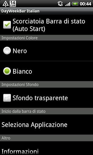 DayWeekBar イタリア語