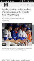 Screenshot of NJ.com: New York Mets News