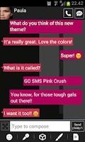 Screenshot of GO SMS Windows 8 Pink