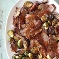Tri-Tip Roast with Brussels Sprouts and Shallots