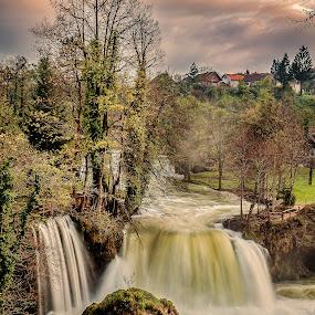 autumn waterfall by Vedran Bozicevic - Landscapes Waterscapes ( rastoke, colorful, waterscape, autumn, waterfall, croatia, landscape, slunj )