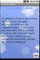 Screenshot of Chanukka Tidbits