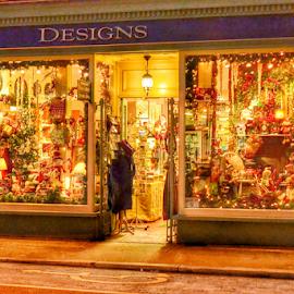 Designs by Nikki Kitley - City,  Street & Park  Markets & Shops ( window, santa, snow, bells, christmas )