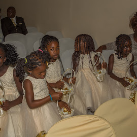 Flower Girls waiting for the Bride by Nicholas Sykes - Wedding Getting Ready