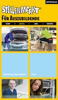 Screenshot of Stellenmarkt für Auszubildende
