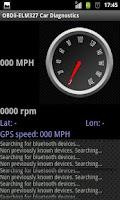 Screenshot of OBD2-ELM327. Car Diagnostics