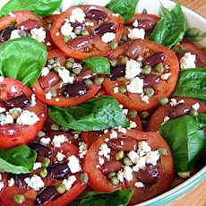 Tomato, Caper, Olive & Blue Cheese Salad