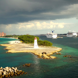 Bahamas light house by Ava Bethlenfalvy-Pitts - Landscapes Travel ( light house, bahamas,  )