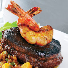 Spiced Beef Tenderloin with Shrimp