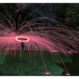 Sparks by Matthew Meuskens - Abstract Light Painting ( #cancer, #breast, #stayinspired, #lightpainting, #awareness, #photography, #canon, the mood factory, mood, lighting, sassy, pink, colored, colorful, scenic, artificial, lights, scents, senses, hot pink, confident, fun, mood factory ,  )