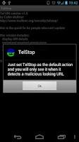 Screenshot of TelStop