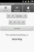 Screenshot of Perpetual Calendar