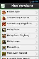 Screenshot of Resep Yogyakarta