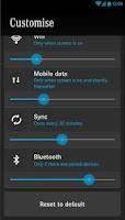 Screenshot of BlueEFFICIENCY battery saver