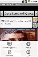 Screenshot of Vince Lombardi Quotes