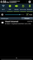 Screenshot of Ziggo Visual Voicemail