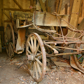 Carriage by Laurent Jacquemyns - Transportation Other ( old, wood, carriage, horse, abandoned )