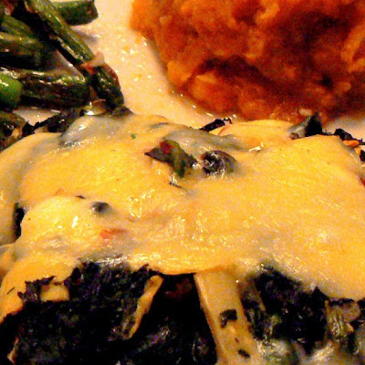 Romantic Dinner at Home – Spinach and Artichoke Stuffed Portobellos