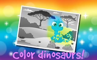 Screenshot of Kids Dinosaur Scratch Off Game