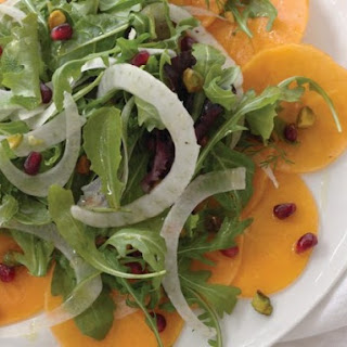 Persimmon, Pomegranate, and Pistachio Salad With Lemon Honey Vinaigrette From 'Choosing Sides'