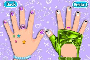 Screenshot of Dress up -Art nail girls