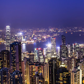 Hong Kong by Nicholas  H - City,  Street & Park  Vistas