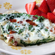 Onion, Bacon and Spinach Frittata